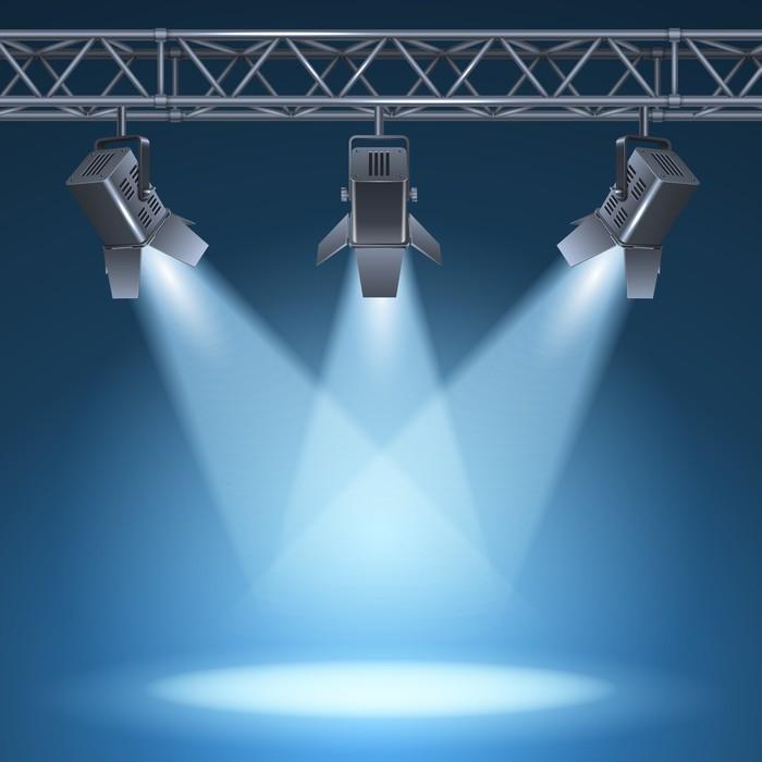 Fotobehang Podium met verlichting • Pixers® - We leven om te veranderen