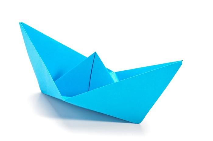 Papier Peint Bleu Origami Navire Pixers Nous Vivons Pour Changer