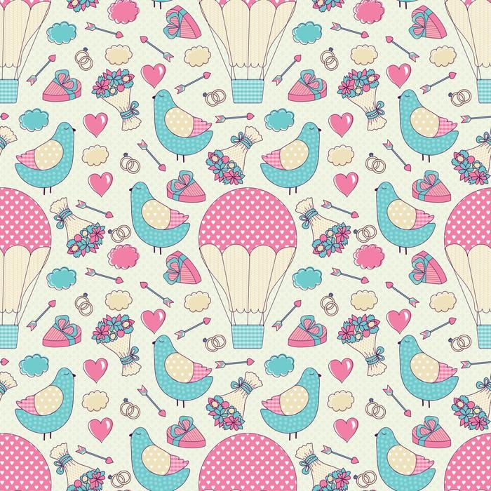 Papier peint romantique seamless pattern pixers nous for Papier peint romantique