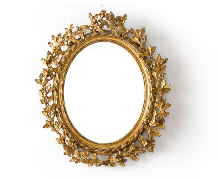 fototapete goldener spiegel pixers wir leben um zu. Black Bedroom Furniture Sets. Home Design Ideas