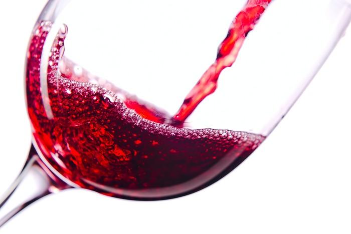 Tableau sur Toile Vin rouge sur fond blanc - Thèmes