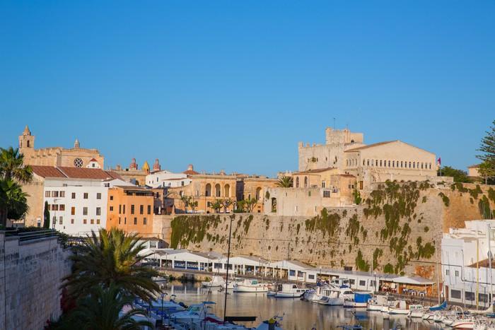 Vinylová Tapeta Ciutadella Menorca Port radnice a katedrála - Evropa