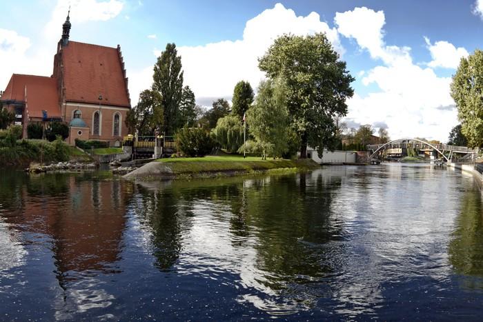 Nálepka Pixerstick Brda River v Bydgoszc - Polsko - Evropa