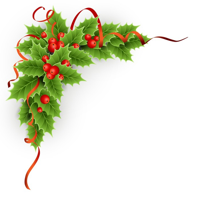 Christmas holly with berries. Sticker - Pixerstick - Backgrounds