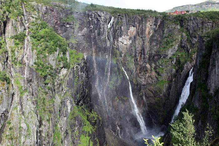Vinylová Tapeta Vodopád Vøringsfossen - čtvrtá nejvyšší vrchol v Norsku - Venkov