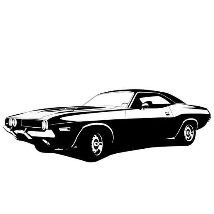 sticker mural profil de voiture de muscle pixers nous vivons pour changer. Black Bedroom Furniture Sets. Home Design Ideas