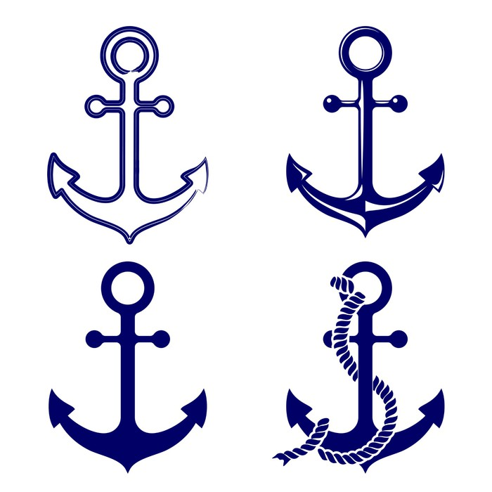 Anchor Symbols Set Vector Illustration Wall Mural Pixers We