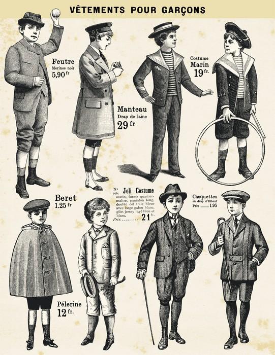 Vinylová Tapeta Oblečení pro kluky - Děti