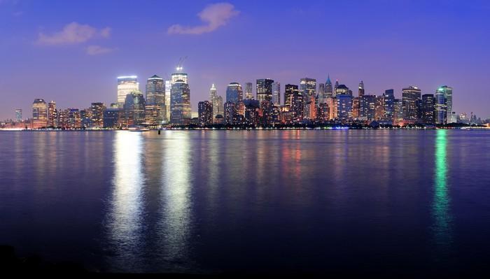Vinylová Tapeta New York City Manhattan soumrak panorama - Jiné