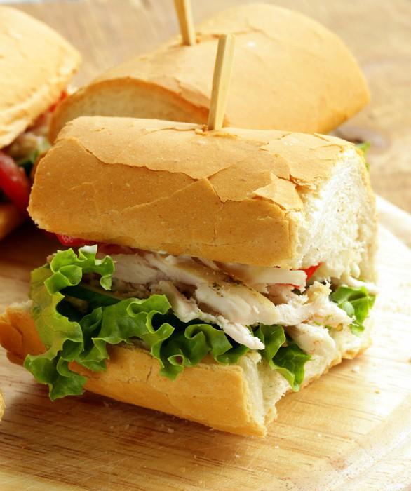 Vinilo para Cristal y Ventana Panini sándwich con pollo y verduras ...
