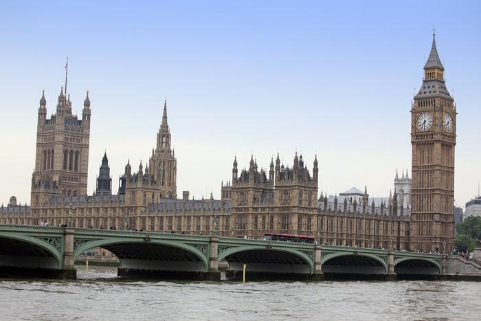 Vinylová Tapeta Slavný a krásný výhled na Big Ben a Houses of Parliament wi - Témata