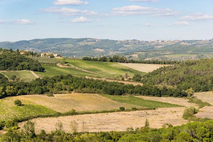 Vinylová Tapeta Hills Siena - Toskánsko - Itali - Prázdniny
