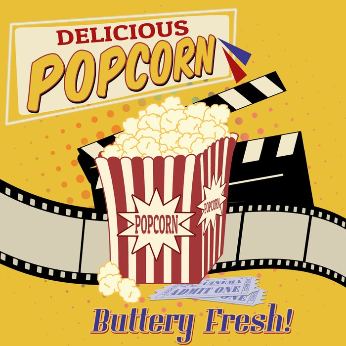 Popcorn poster Wall Mural • Pixers® • We live to change