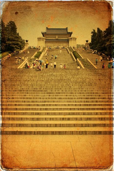 Vinylová Tapeta Nanjing - Mauzoleum Sun Yat-sen - Asie