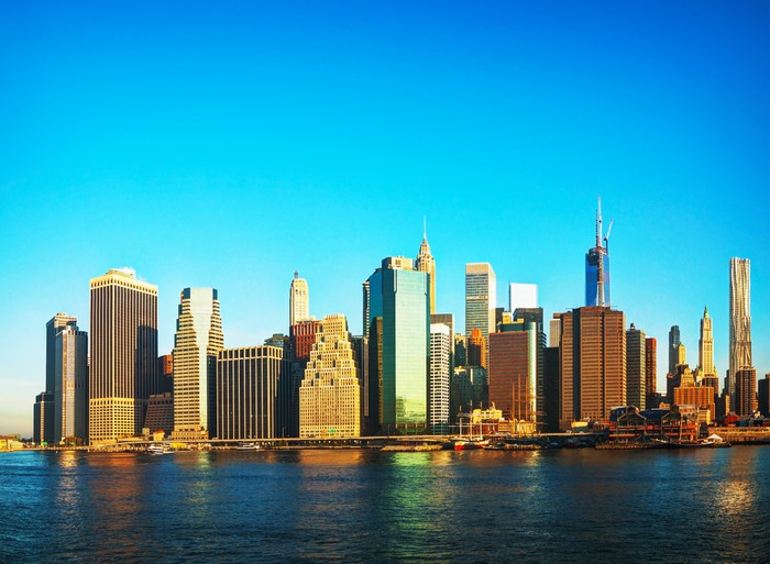 New York City cityscape Wall Mural Pixers We live to change