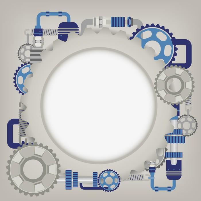 Vinylová Tapeta Mechanizmus - Aplikované a přírodní vědy