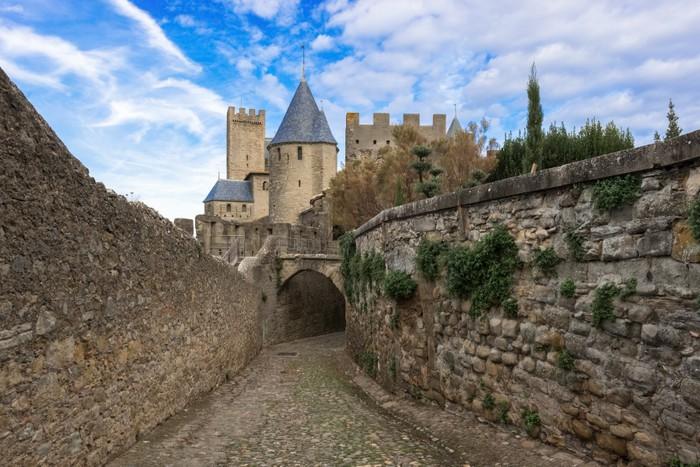 Vinylová Tapeta Středověké město Carcassonne ve Francii - Evropa