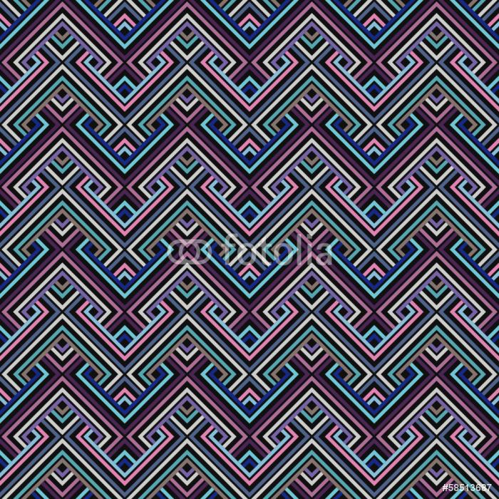 Vinylová Tapeta Abstract Ethnic Bezešvé geometrický vzor. Vektorové ilustrace - Surové materiály