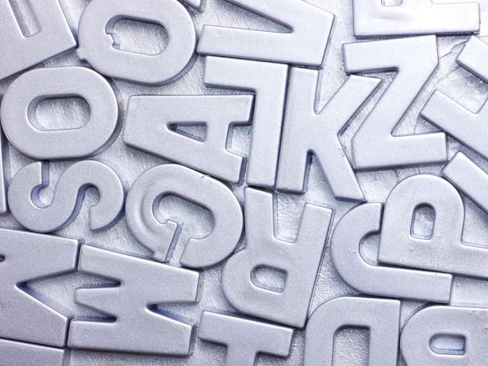 Tableau sur Toile Lettres d'argent - Thèmes