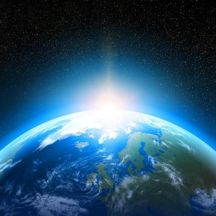 Cuadro en lienzo planeta tierra vista desde el espacio - Fotomurales national geographic ...