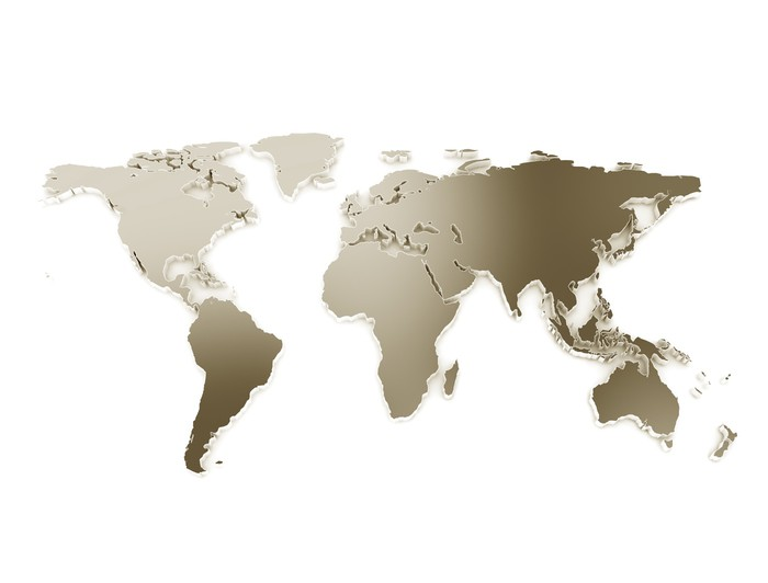 3d world map metal texture isolated on white wall mural pixers 3d world map metal texture isolated on white vinyl wall mural wall decals gumiabroncs Image collections