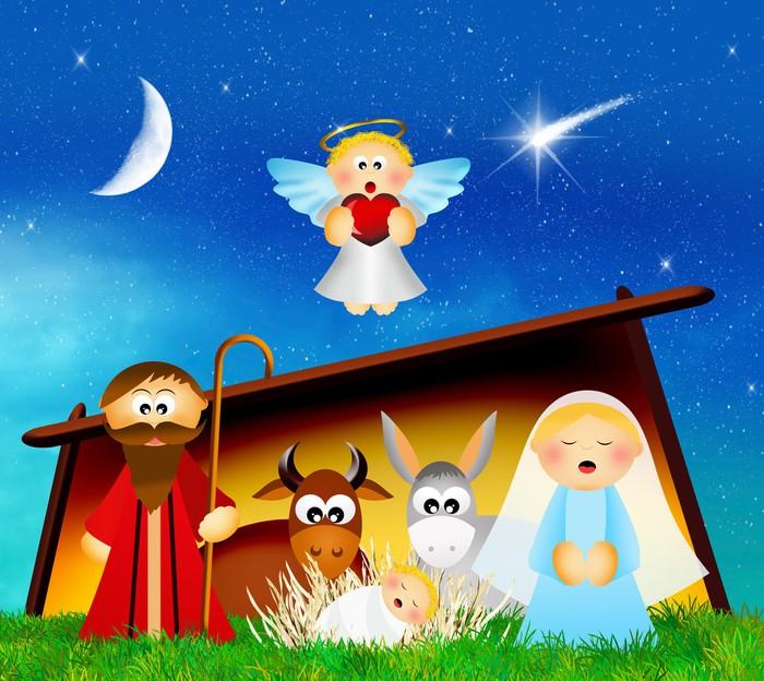 Vinylová Tapeta Christmas nativity scene - Vánoce