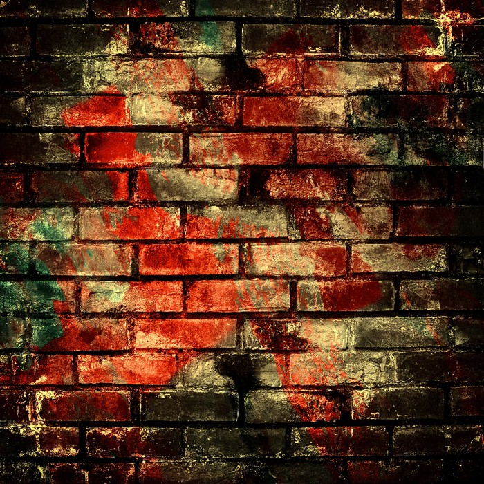 Graffiti brick wall wall mural pixers we live to change for Brick wall mural