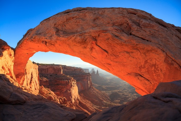 Vinylová Tapeta Národní park Mesa Arch Cnyonlands svítání. - Amerika