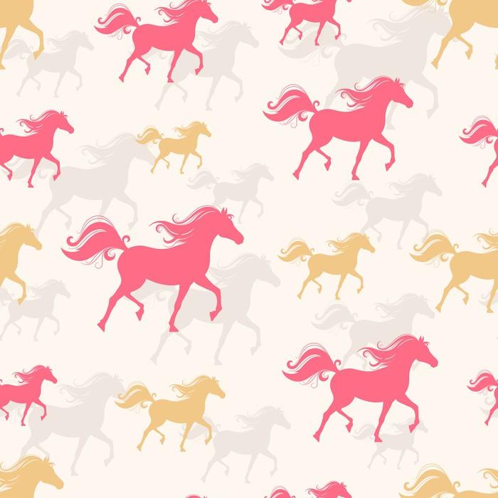 Papier peint chevaux caracolant pixers nous vivons - Papier peint chevaux pour chambre ...