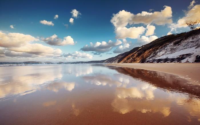 Vinylová Tapeta Rainbow Beach - Voda