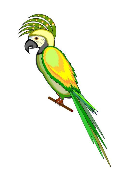 Wandtattoo ein papagei ara auf einem wei en hintergrund pixers wir leben um zu ver ndern - Wandtattoo papagei ...