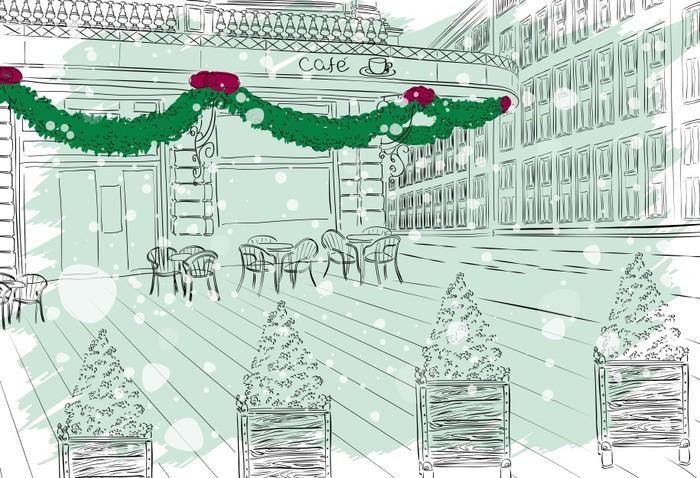 Vinylová Tapeta Staré město pohled s kavárnou - Mezinárodní svátky
