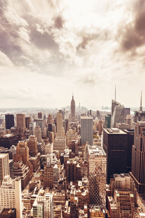 fototapete skyline von manhattan luftbild pixers wir. Black Bedroom Furniture Sets. Home Design Ideas