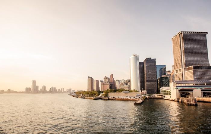 Vinylová Tapeta Dolní Manhattan Skyline - Město