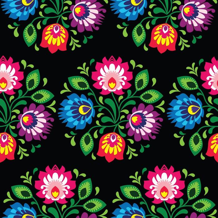 papier peint seamless floral traditionnel polonais ethnique pixers nous vivons pour changer. Black Bedroom Furniture Sets. Home Design Ideas