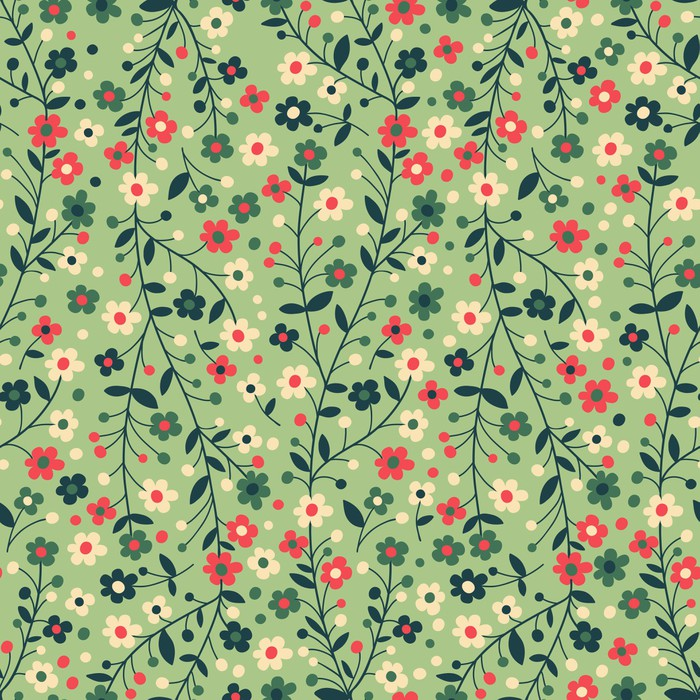Flowering branches Vinyl Wallpaper - Textures
