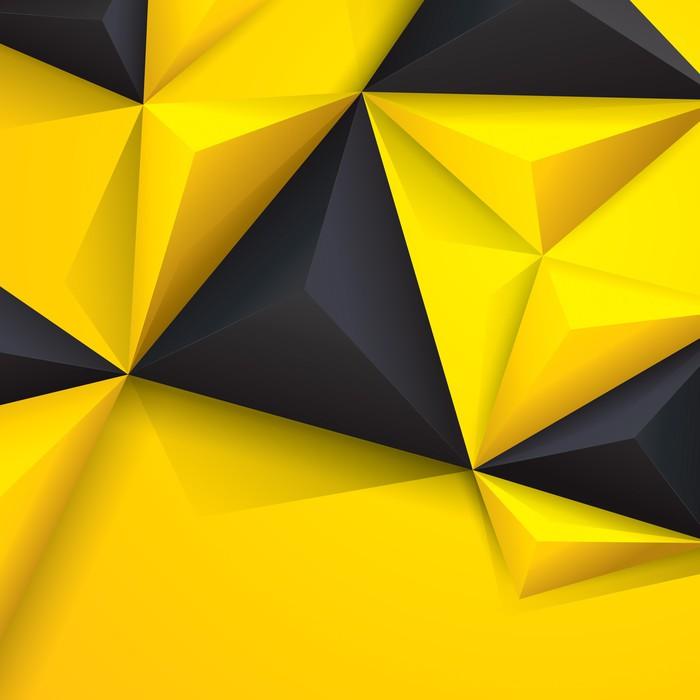 Elicottero Nero E Giallo : Quadro su tela sfondo geometrico giallo e nero pixers