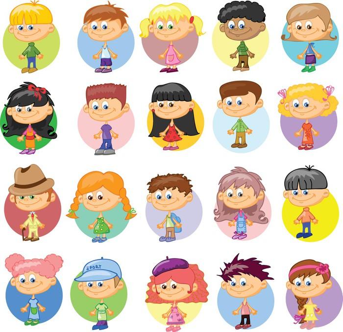 Quadro su tela bambini carino cartone animato pixers