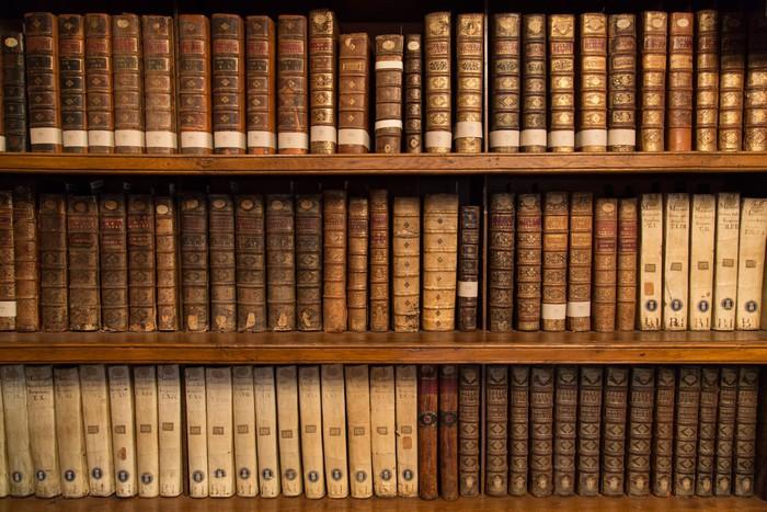 papier peint livres dans une biblioth que pixers nous vivons pour changer. Black Bedroom Furniture Sets. Home Design Ideas