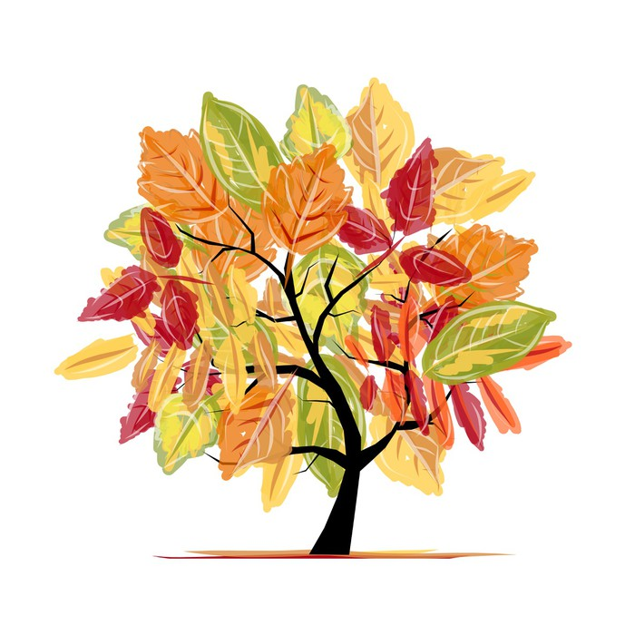 Autumn tree for your design wall mural pixers we live for Autumn tree mural