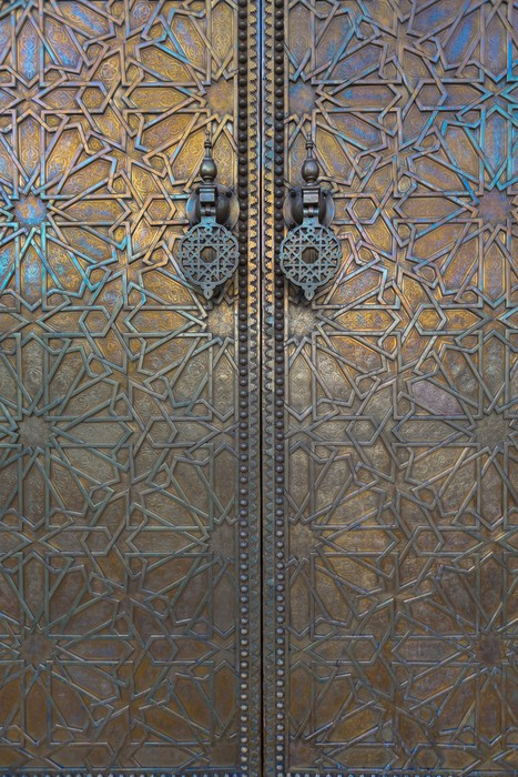 Door at Dar El Makhzen Morocco Wall Mural Pixers We live to change