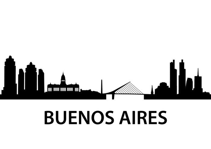 Vinylová Tapeta Skyline Buenos Aires - Amerika