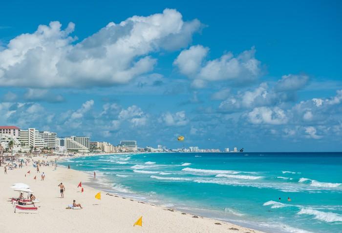 Vinylová Tapeta Cancun beach scéna, Mexiko - Témata