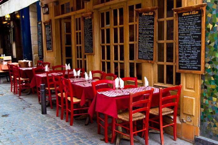 Vinylová Tapeta Francouzská restaurace - Evropská města