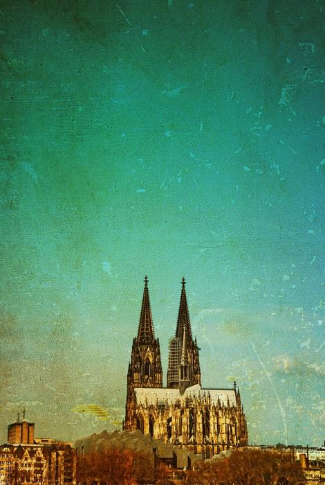 Vinylová Tapeta Pohled na katedrálu v Kolíně nad Rýnem - Veřejné budovy