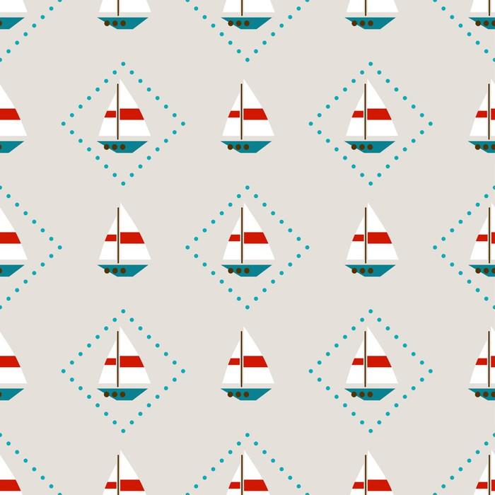papier peint seamless avec des voiliers pixers nous vivons pour changer. Black Bedroom Furniture Sets. Home Design Ideas