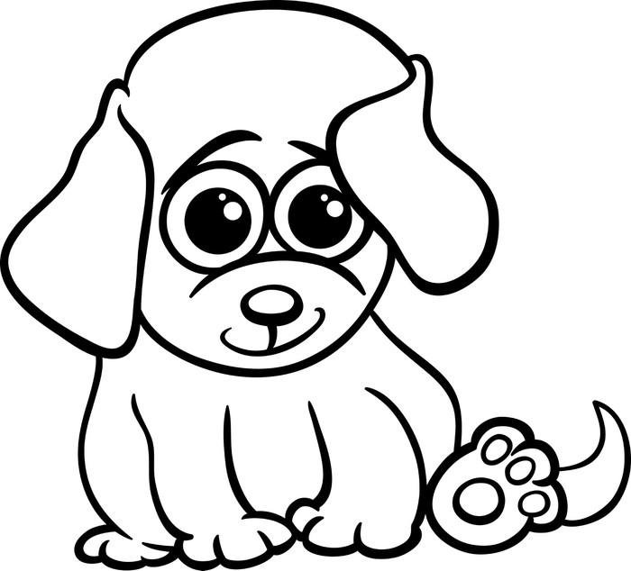 Fotomural Perrito bebé para colorear de dibujos animados • Pixers ...