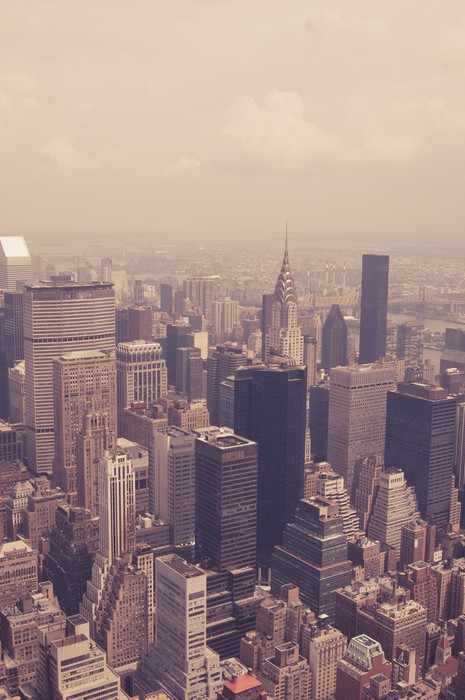 NYC from above toned Wall Mural Pixers We live to change