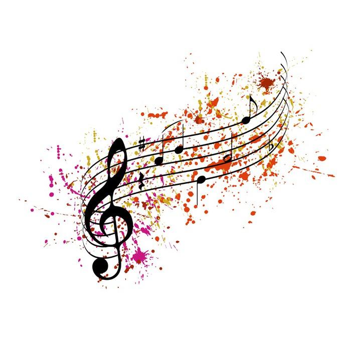 Fototapete musiknoten mit farbigen spritzer pixers wir leben um zu ver ndern - Feuille de musique a imprimer ...