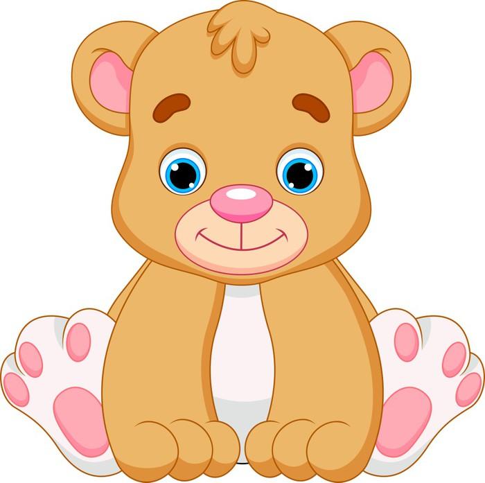 fotomural beb u00e9 lindo oso de dibujos animados  u2022 pixers teddy bear vector clipart teddy bear vector black and white
